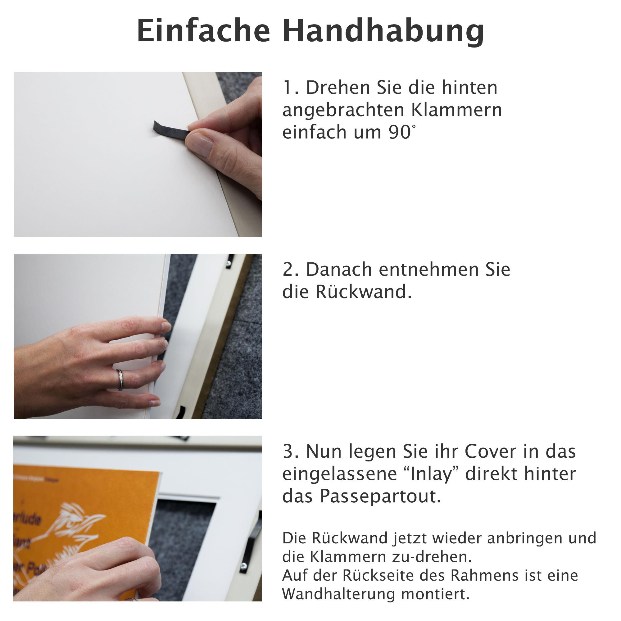 Vinyl LP Cover Kurt Rahmen mit Passepartout und Echtglas für ...