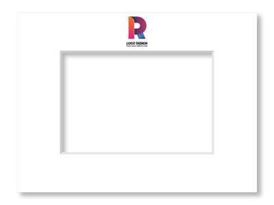 Passepartout mit Logo bedruckt